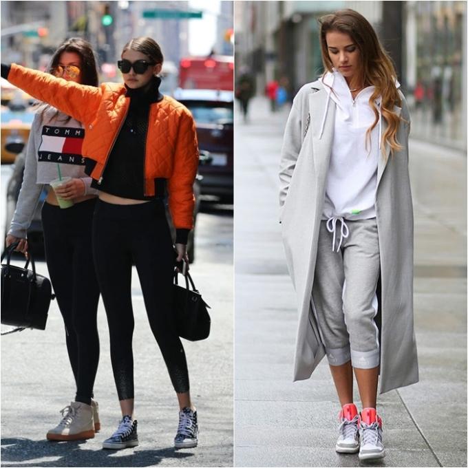"""<p> Trong những năm 2010 trở về sau, """"Athleisure"""" chính là xu hướng có sức ảnh hưởng mạnh mẽ khắp sàn diễn thời trang lẫn cuộc sống. Đây là tên gọi của phong cách thời trang thể thao mang tính ứng dụng cao và không kém phần thời thượng. Các cô nàng IT Girls như Gigi Hadid, Kendall Jenner… đều yêu thích phong cách năng động thoải mái với những item quen thuộc như quần tập, sneaker, áo phông, crop top, hoodie…</p>"""