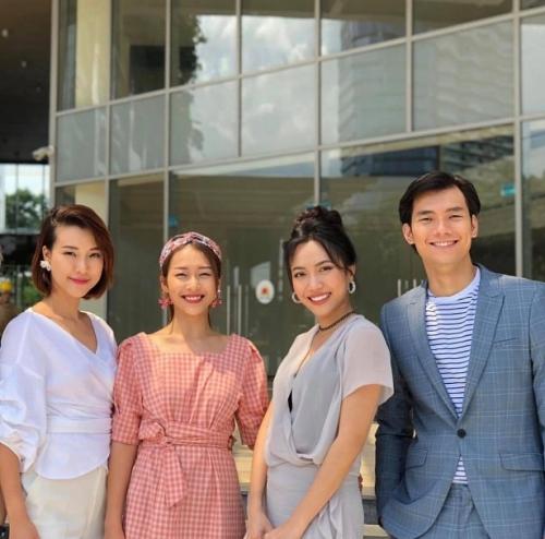 Diệu Nhi thân thiết cùng Khả Ngân, Hoàng Oanh và Nhan Phúc Vinh trong một dự án mới.