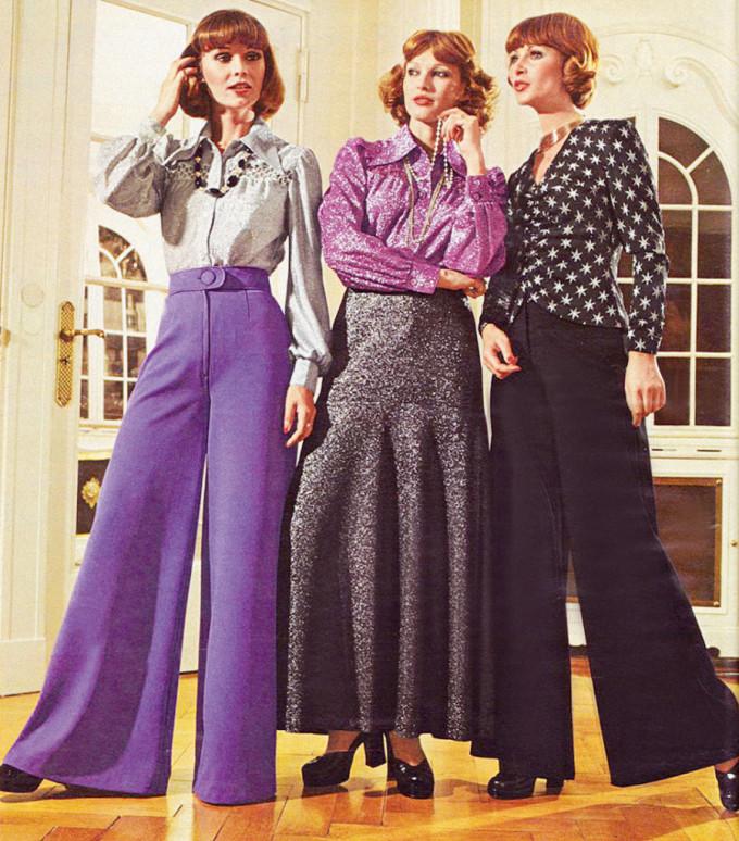 <p> Thập niên 70 của thế kỷ trước chứng kiến sự thống trị mạnh mẽ của xu hướng quần jeans ống loe và những đôi platform đế bánh mì cỡ lớn.</p>