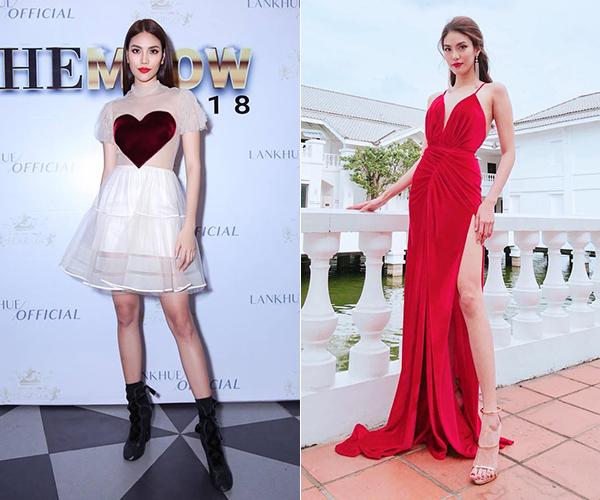 Kiểu trang phục cũng là yếu tố lớn làm nên cặp giò thương hiệu của người đẹp.