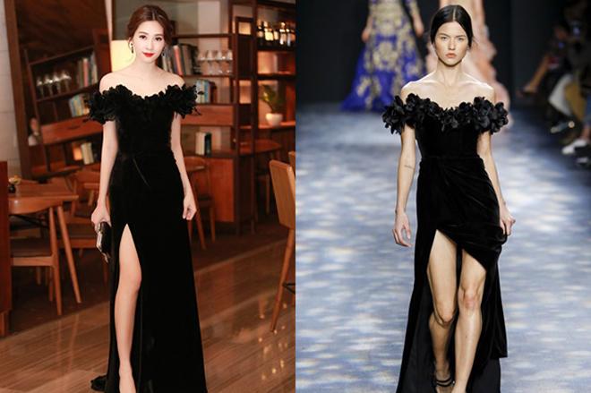 <p> Diện bộ đầm đen thanh lịch, nền nã của NTK Lê Thanh Hòa, Đặng Thu Thảo khoe vẻ đẹp mong manh, quyến rũ. Thế nhưng, mẫu váy này khá giống với thiết kế nằm trong BST Marchesa hồi cuối năm 2016.</p>