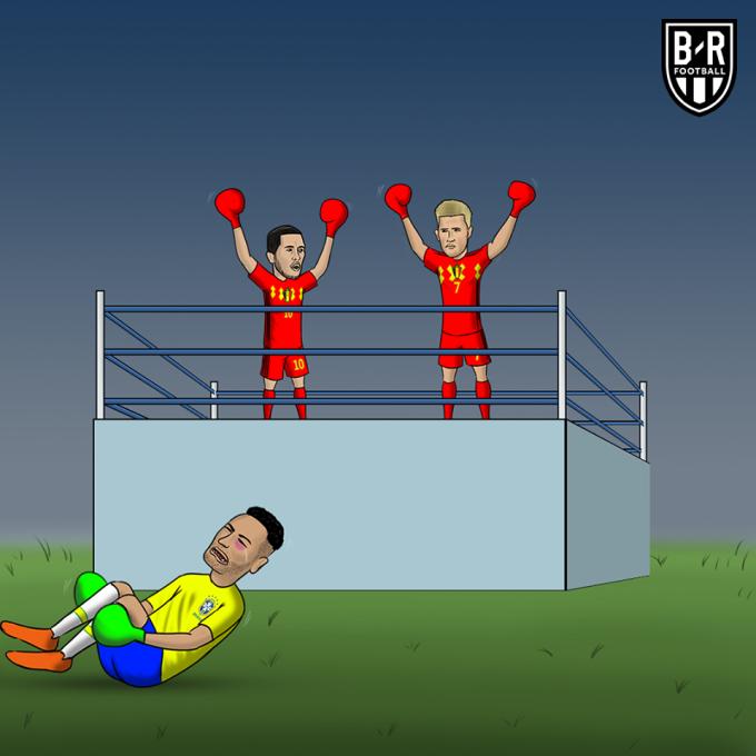 """<p> """"Ăn vạ"""" đoạt đến tầm Oscar như Neymar cũng không thể cứu vãn tình thế Brazil thua đau đớn 1-2 trước Bỉ và dừng chân ở vòng tứ kết tại World Cup 2018. Ngôi sao nổi tiếng ngay lập tức trở thành niềm cảm hứng chế ảnh.</p>"""