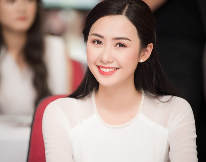 <p> Thí sinh Phạm Ngọc Linh sở hữu nụ cười rạng ngời.</p>