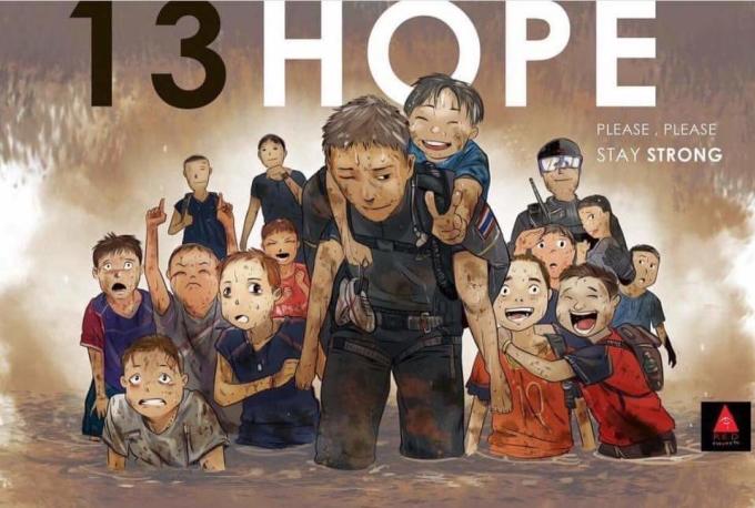 """<p> Đội bóng nhí mắc kẹt trong hang Tham Luang gồm 12 cậu bé và Huấn luyện viên của họ đang nhận được sự quan tâm từ khắp thế giới. Hàng triệu người nín thở theo dõi diễn biến sự việc từ lúc có thông báo mất tích, vỡ òa khi tìm thấy cả đội sống sót và hồi hộp, lo lắng trong công cuộc giải cứu đầu tiên. Tất cả đều giống nhau ở một điều """"Hope"""" - Hy vọng.</p>"""