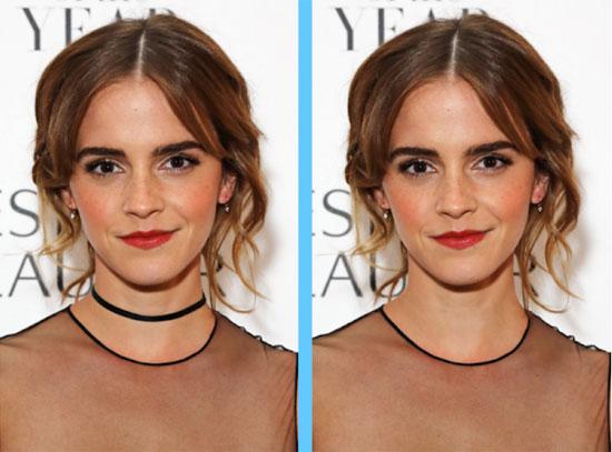 Căng mắt tìm điểm khác lạ của Emma Watson