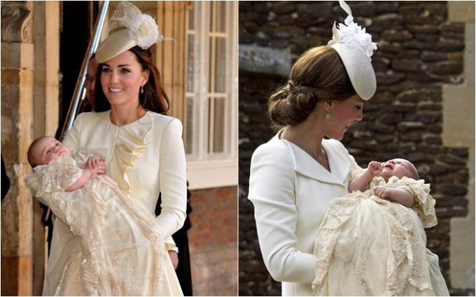 <p> Những năm qua, khi trở thành vợ Hoàng tử William, dù không có cơ hội gặp mặt Công nương Diana nhưng Kate luôn bày tỏ sự tôn kính của mình qua những hành động tinh tế. Trong 2 lần thực hiện lễ rửa tội trước đây vào năm 2013 và 2015, Kate đều mặc thiết kế màu kem và đội mũ kết hoa trắng, vừa thể hiện sự thuần khiết vừa muốn nhắn gửi những thông điệp thiêng liêng tới người mẹ chồng quá cố.</p>