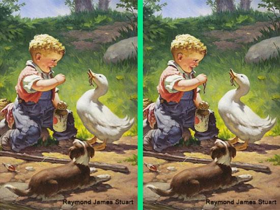 30 giây nhanh mắt tìm điểm khác biệt trong loạt tranh dễ thương - 7
