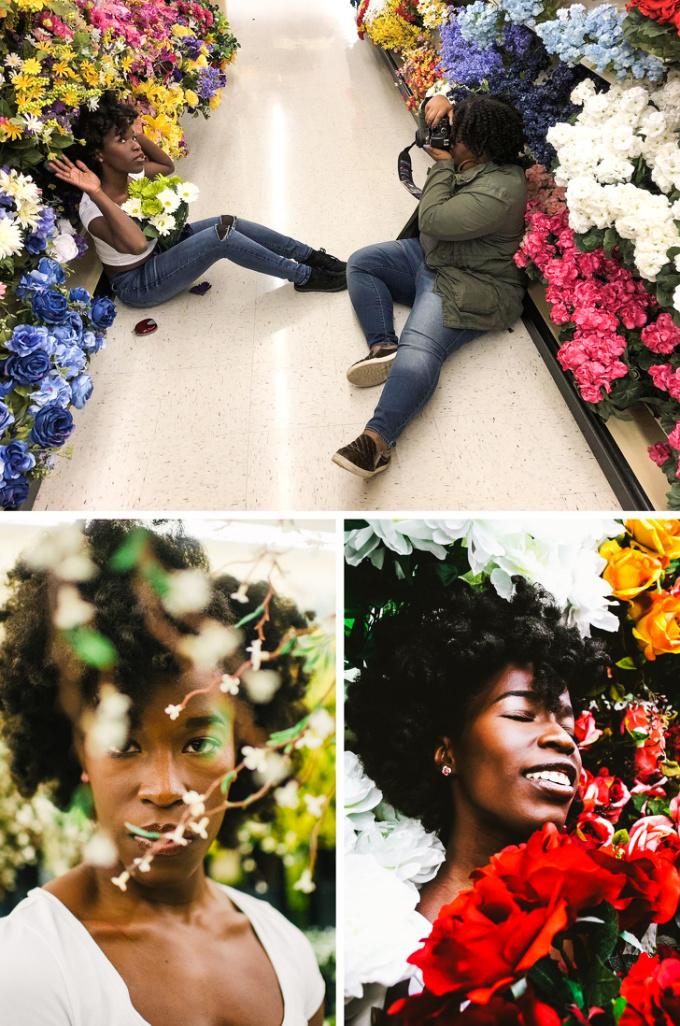 <p> Quầy hoa ở siêu thị là điểm sống ảo lý tưởng.</p>