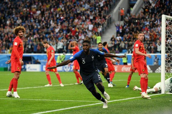 <p> Bỉ là liều thuốc thử cực mạnh cho đoàn quân của Deschamps tại bán kết. Thực tế thế trận trên sân cũng cho thấy 2 đội rất cân tài cân sức. Và đội tuyển áo lam đã giành quyền vào chung kết bằng bàn thắng duy nhất của trung vệ Umtiti sau 1 phút mất tập trung của các cầu thủ Bỉ.</p>