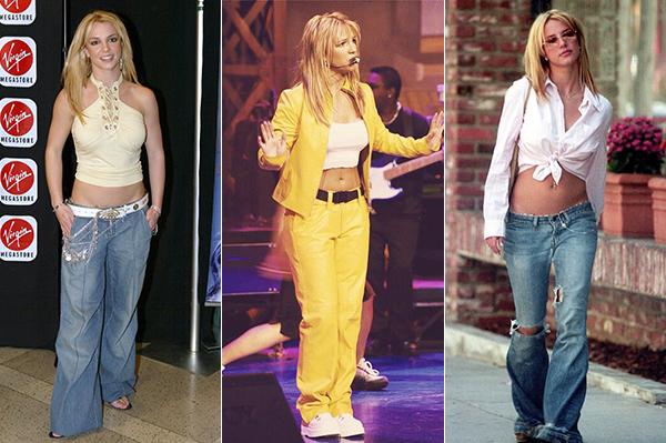 Những chiếc quần thùng thình với phần cạp siêu trễ từng gắn liền với phong cách của Britney Spears, cả khi ra phố lúc lên sân khấu, đi sự kiện ở thời điểm cô còn đang ở đỉnh cao danh vọng. Phong cách này cũng giúp người đẹp khoe được vẻ gợi cảm, đồng thời là sự ngổ ngáo của một cô gái tuổi đôi mươi.