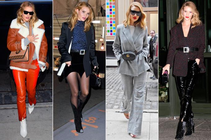 <p> ROSIE HUNTINGTON-WHITELEY<br /> 4 bộ trang phục, tất cả đều hoàn hảo.</p>
