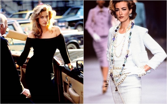 """<p> Trong 5 siêu mẫu từng xuất hiện trên trang bìa tạp chí Vogue số tháng 1 năm 1990, Tatjana Patitz dường như là người đẹp ít mặn mà với sự nghiệp catwalk so với Naomi Campell, Linda Evagelista, Christy Turlington và Cindy Crawford. Mặc dù có nhan sắc và số đo nổi trội, Tatjana chỉ xem thời trang là cuộc dạo chơi ngắn ngủi. Sau khi gắn bó với những thương hiệu như Chanel, Calvin Klein, Versace… và xuất hiện trên 130 trang bìa tạp chí khắp thế giới, Tatjana nhanh chóng lui về """"ở ẩn"""" khiến công chúng tiếc nuối.</p>"""