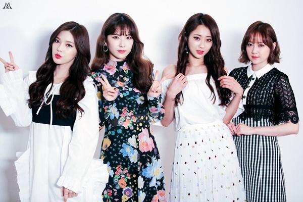 Nhóm nhỏ 9Muses A gồm Kyung Ri, Hye Mi, So Jin và Keum Jo.