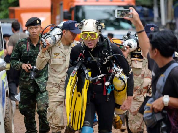 Thợ lặnJohn Volanthen, người đã tìm thấycác chàng trai bị mắc kẹt ở Thái Lan.