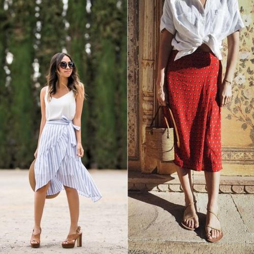Với những nàng sở hữu thân hình đẹp, wrap skirt giúp tôn thêm dáng và làm nổi bật những ưu điểm trên đường nét cơ thể.
