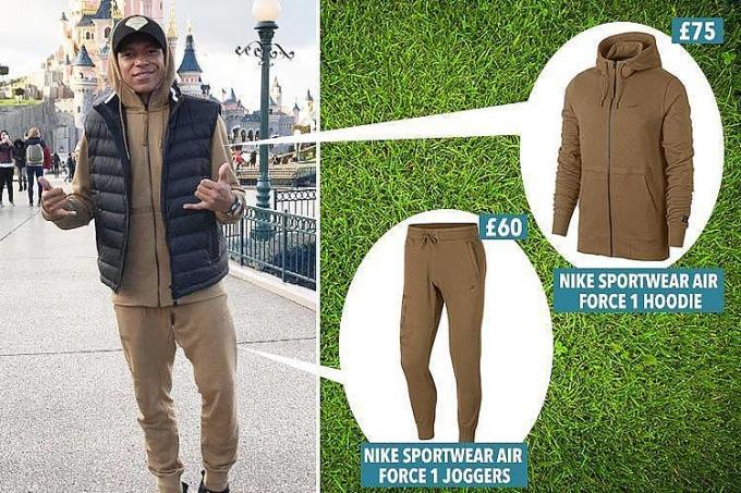 <p> So với mức lương 1,8 triệu USD mỗi tháng thì set đồ trên của Mbappe quá giản dị. Không đầu tư cho hàng hiệu, cầu thủ 19 tuổi này sẵn sàng góp toàn bộ số tiền nhận được khi thi đấu ở World Cup - lên đến 265.000 bảng - cho quỹ từ thiện ở Pháp. </p>