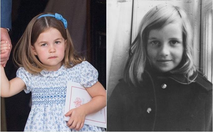 <p> Đặc biệt nhiều người bất ngờ khi thấy chiếc mũi và nụ cười mỉm của Charlotte là bản sao chính xác từ hình ảnh Diana ngày nhỏ.</p>