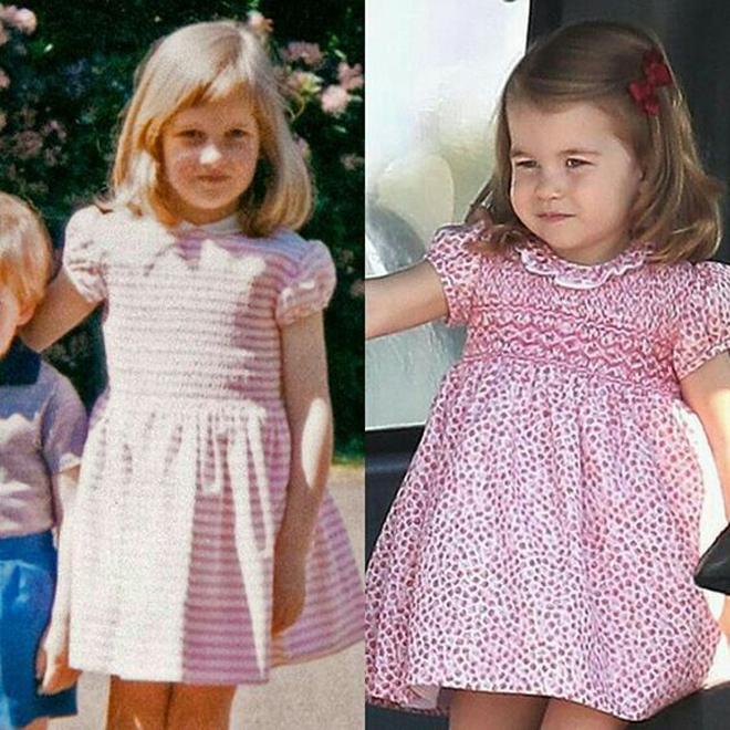 <p> Cả hai đều trông rất xinh xắn với mái tóc thẳng ngang vai, mặc dù tóc của Diana có màu vàng và còn Charlotte thừa hưởng mái tóc nâu giống mẹ.</p>
