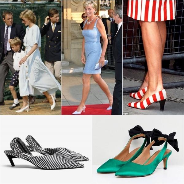 3 mẫu giày cao gót thập niên 90 của Công nương Diana