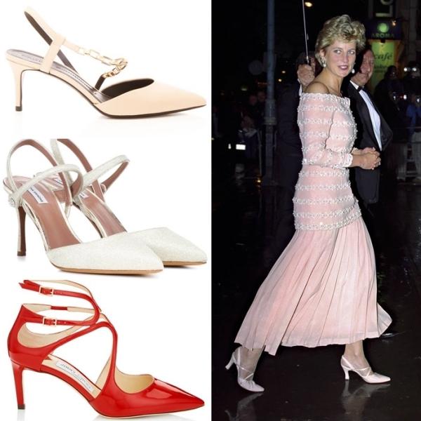 3 mẫu giày cao gót thập niên 90 của Công nương Diana - 2