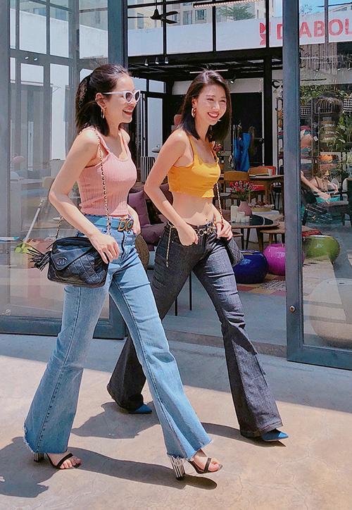 Chiếc quần hack chiều cao đáng kể cho Quỳnh Anh Shyn, Chi Pu