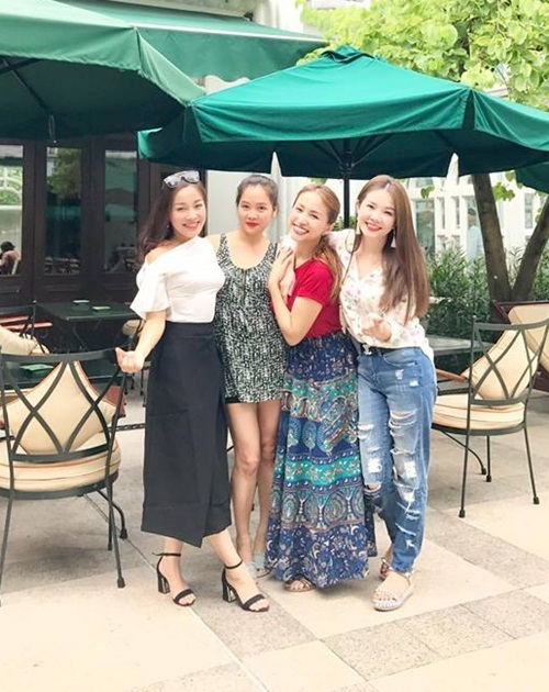 4 hot girl Nhật ký Vàng Anh ngày hội ngộ.