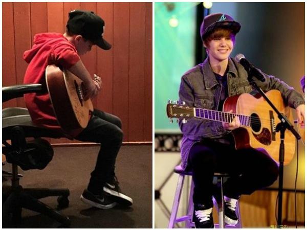 Hình ảnh Cruz đệm guitar ca hát khiến nhiều người liên tưởng đến cậu bé Justin Bieber nhiều năm trước.