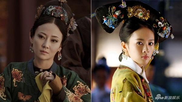 Vai Cao quý phi ngạo mạn phách lối của Đàm Trác (trái) và Cao Hy Nguyệt của Đồng Dao trong Như Ý truyện đều được xây dựng từ hình mẫu Huệ Hiền Hoàng quý phi Cao Giai Thị.