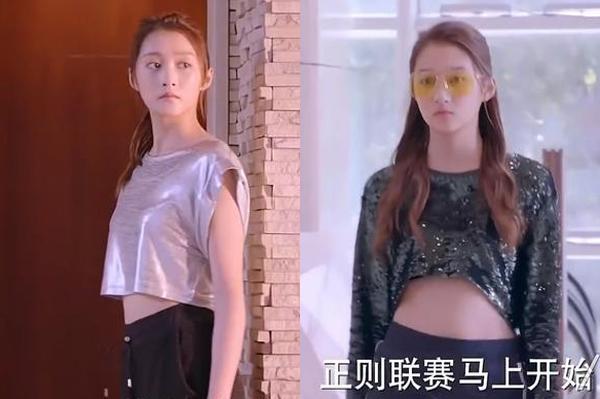 Khi đến trường, nữ chính thích mặc crop top khoe eo gây khó hiểu.