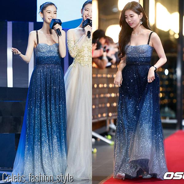 Trước đó, cô cũng bị chê kém quyến rũ khi diện chung thiết kế với người đẹp có da có thịt Suzy.
