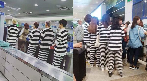 Khi Winner đến Việt Nam hồi đầu tháng 7, một nhóm fan đã cosplay hình ảnh tù nhân - trang phục nhóm nhạc YG từng mặc khi ghi hình Youth over flowers - và ra sân bay chờ đón thần tượng.