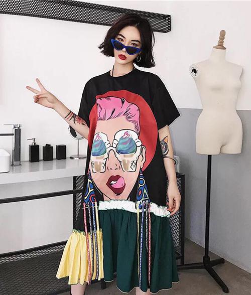 Trên Taobao, bạn có thể tìm thấy kiểu váy này với nhiều chất liệu, mức giá khác nhau, trung bình từ 50-80 NDT (tương đương 170-270 nghìn đồng).