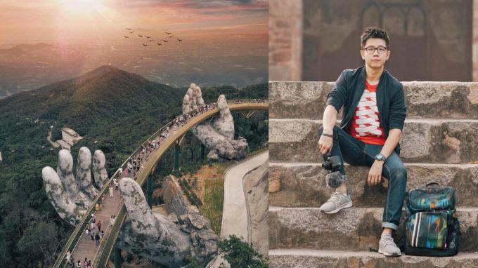 """<p> <a href=""""https://ione.vnexpress.net/tin-tuc/nhip-song/chang-trai-malaysia-noi-tieng-nho-buc-anh-cau-vang-3786748.html"""">Jason Goh</a>- chàng trai đến từ Malaysia, hiện làm việc trong lĩnh vực truyền thông - trở nên nổi tiếng khi chụp được bức ảnh về cây cầu hot ở Việt Nam. Khoảnh khắc Jason Goh ghi lại được chụp bao quát toàn bộ cây cầu hùng vĩ đứng sừng sững giữa núi đồi cây cối xanh mướt.</p>"""