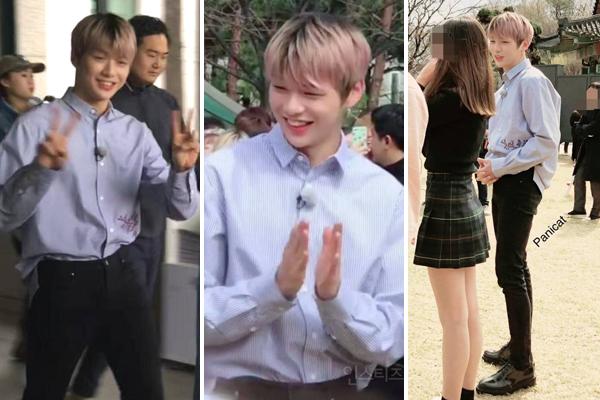 Kang Daniel không ít lần gây trầm trồ vì quá đẹp trai ngoài đời thực, điểm gây chú ý nhất là cặp chân dài và tỷ lệ thân hình rất đẹp của thành viên Wanna One.