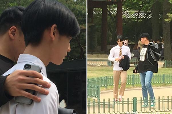 Bae Jin Young (Wanna One) đích thực là hot boy trường học với khuôn mặt nhỏ đến con gái cũng phải ghen tỵ.