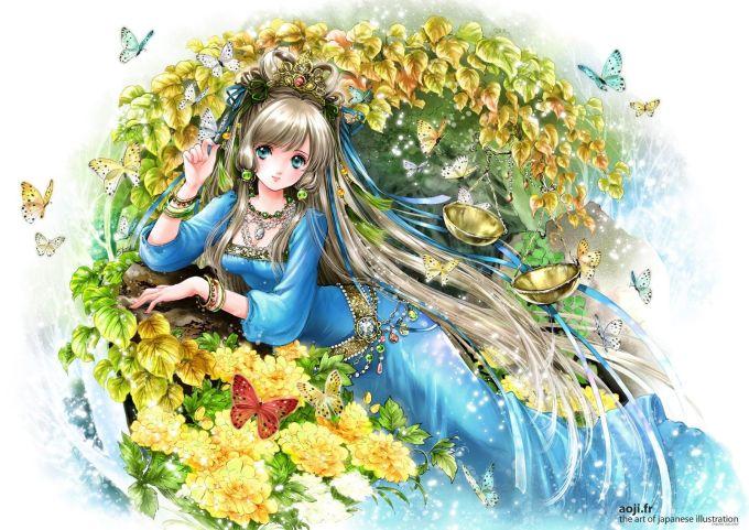 <p> THIÊN BÌNH: Lộng lẫy, kiêu sa và rực rỡ là những gì có thể mô tả về hình ảnh của Thiên Bình dưới bàn tay tài hoa của họa sĩShiitake.</p>
