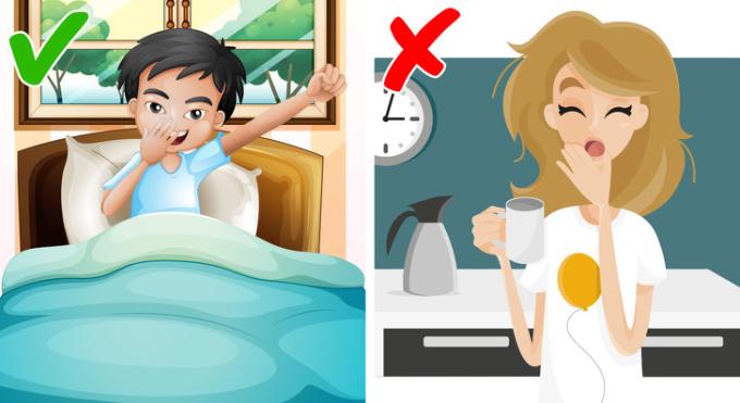 <p> Khi bạn quá mệt mỏi, bạn bỏ qua tập thể dục và có xu hướng chọn các món ăn nhẹ có nhiều carb và nhiều cà phê. Ngoài ra, thiếu ngủ có thể dẫn đến chuyển hóa chậm hơn. Vì vậy, cố gắng ngủ ít nhất 7 giờ mỗi ngày.</p>