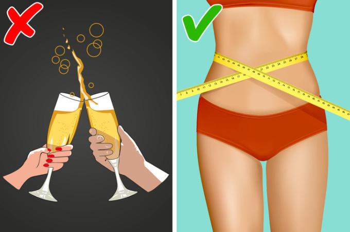 """<p> Uống bia gây ra béo bụng. Cố gắng có ít """"giờ hạnh phúc"""" hơn nếu bạn quan tâm đến cân nặng của mình.</p>"""