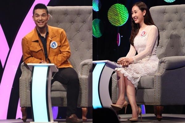 Quang Phúc - Xuân Quỳnh tại show hẹn hò.