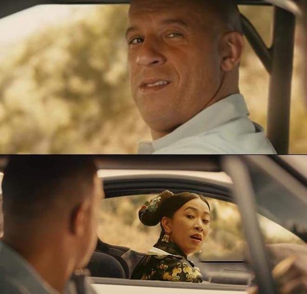 Chưa hết, chị Nhàn sắm siêu xe, tham gia giải đua Fast and Furious với tài tử Vin Diesel.