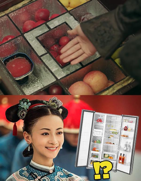 Vốn thông minh, Ngụy Anh Lạc trở thành nhà phát minh ra chiếc tủ lạnh phiên bản đầu tiên trong cung.
