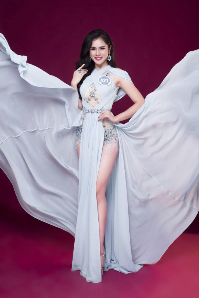 """<p> Sau khi bị loại khỏi Hoa hậu Hoàn vũ, Huyền Trang """"phục thù"""" tại Hoa hậu Đại Dương. Trong đêm chung kết, cô lọt vào top 5 chung cuộc.</p>"""
