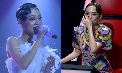 Tóc Tiên xúc động với phần thi của Thái Bình.