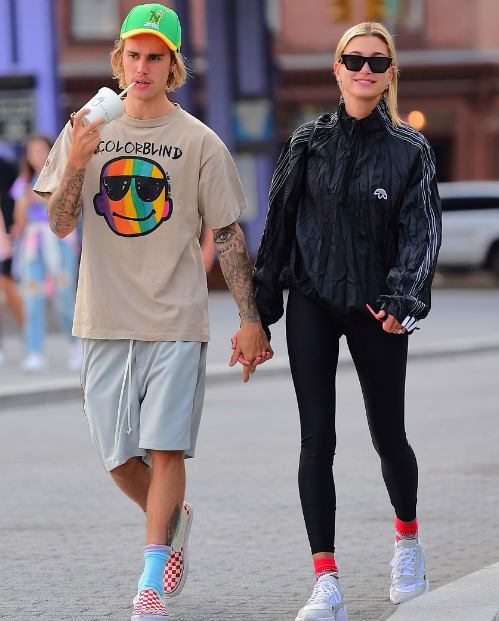Hình ảnh mới nhất của Hailey và Justin tại New York ngày 13/8.