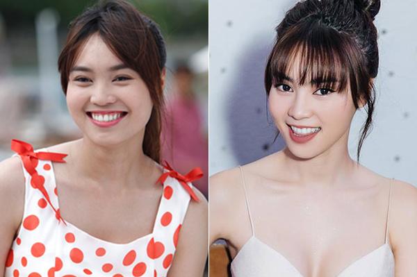 Nụ cười rạng rỡ của Lan Ngọc vẫn được giữ nguyên sau 8 năm làm nghề, tuy nhiên các đường nét trên gương mặt thì thanh thoát hơn nhiều, một phần đến từ việc giảm cân và biết cách làm đẹp, trang điểm hơn.