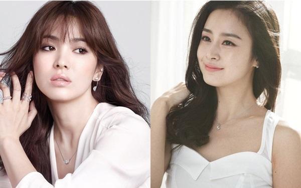 Kim Tae Hee và Song Hye Kyo luôn là đối thủ trong nhiều cuộc bình chọn nhan sắc, tài năng.