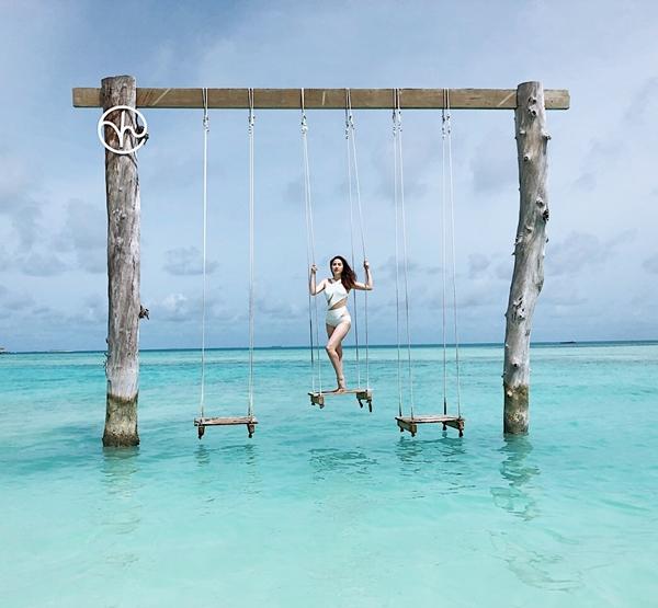 Bảo Thy khoe vóc dáng nuột nà ở thiên đường Maldives - 2
