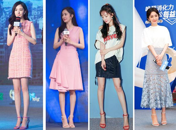 Bộ sưu tập sandals của Dương Mịch không đếm xuể vì số lượng lớn. Các đôi giày có chung thiết kế chỉ khác về màu sắc.