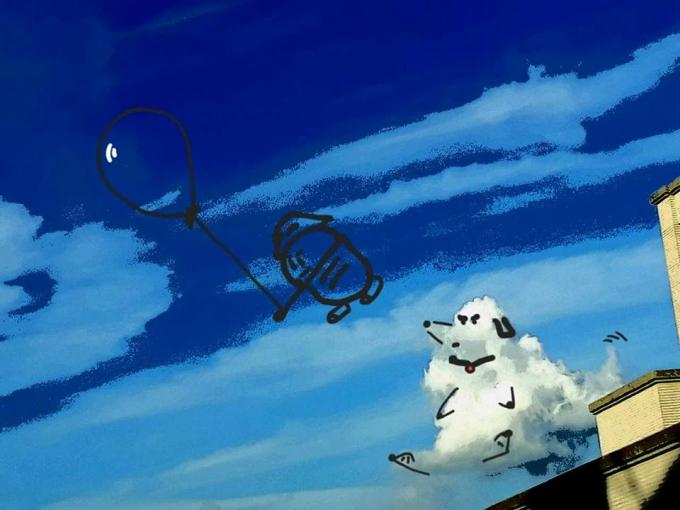<p> Quang Thiện cho hay, bộ ảnh lấy cảm hứng từ mỗi lần cậu thấy nhớ nhà, nhớ quê nên hay ngước nhìn bầu trời và chụp lại hình những đám mây. Điều này giúp cậu phần nào nguôi ngoai nỗi nhớ gia đình.</p>