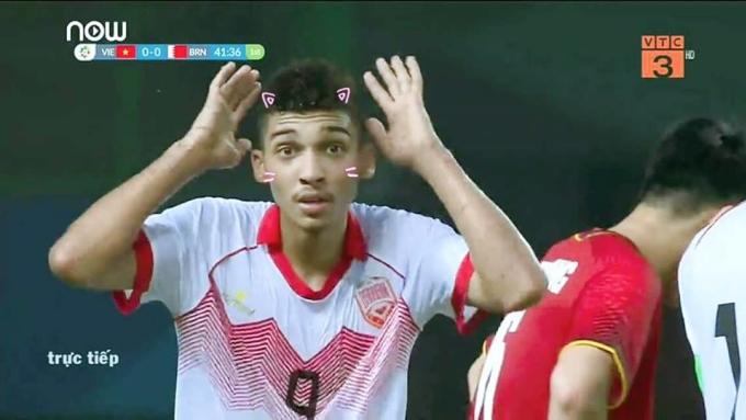 """<p> Phản ứng ngơ ngác củaSanad Ahmed trên sân bỗng trở nên """"cute"""" khi dùng hiệu ứng này.</p>"""